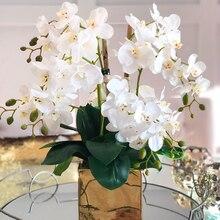 1 шт Искусственный фаленопсис шелковые искусственные цветы домашний декор DIY Свадебные украшения цветок искусственный цветок розы Букет По...