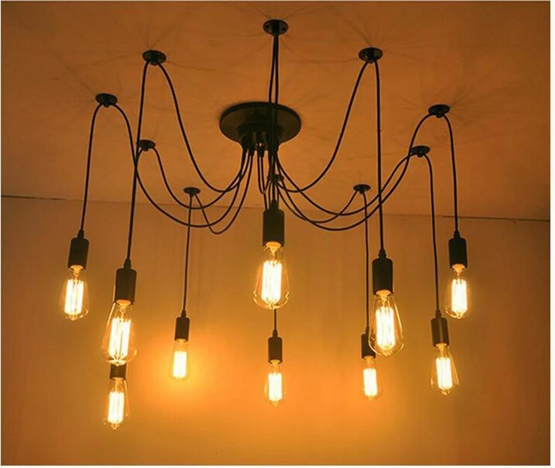 Diy Pendant Lights Modern Retro Hanging Lamps Edison Bulb Fixtures Spider Ceiling Lamp Fixture Light For Living Room Home Decor Light Choir Light Up Your Lifelighting A Pilot Light Aliexpress