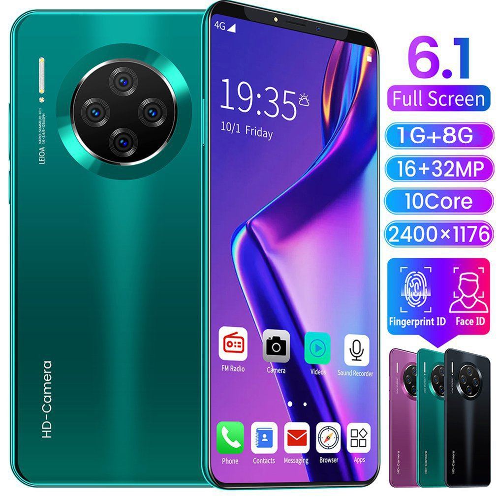 6.1 Inch Smartphone Voor Mate33 Pro Big Screen Android 9.1 Smartphone Hd Display 10Cores 4500 MAh 1GB+8GB Hd Camera Mobile Te