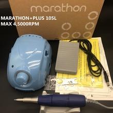 STRONG 210, 45000rpm, juego de taladro eléctrico para manicura MARATHON Champion 3 plus 105L, para laboratorio Dental, Micromotor MARATHON
