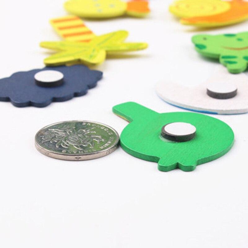 12 шт./лот красочные деревянные животные из мультфильмов холодильник наклейки детские игрушки магнит на холодильник для дома детские развивающая игрушка, подарок