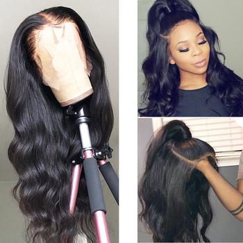 360 koronki przodu peruka wstępnie oskubane z dzieckiem włosy Remy brazylijski ciało fala HD przejrzyste 13 #215 4 13 #215 6 koronki przodu włosów ludzkich peruk tanie i dobre opinie Superfect Długi 360 Koronki Przednie Peruki Remy włosy Ludzki włos Pół maszyny wykonane i pół ręcznie wiązanej