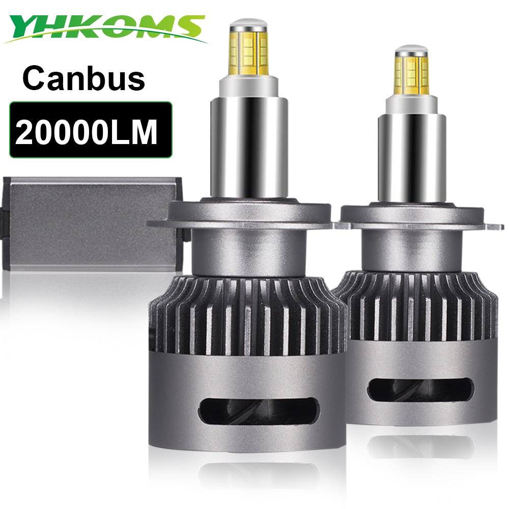 YHKOMS 20000 lm 360 stopni LED h7 Canbus H1 H11 żarówka LED H8 H9 9005 9006 9012 Auto reflektor samochodowy 6000K światło przeciwmgielne bez błędu CSP 12V