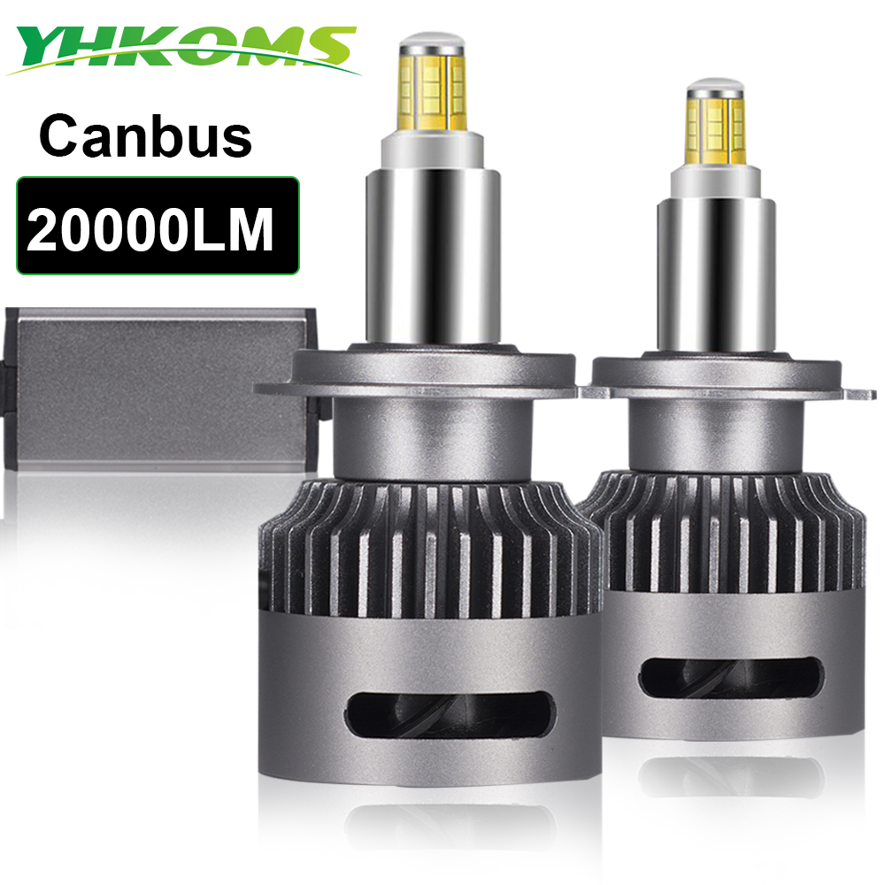 YHKOMS 20000LM 360 degree LED h7 Canbus H1 H11 LED Bulb H8 H9 9005 9006 9012 Auto Car Headlight 6000K Fog Light No Error CSP 12V