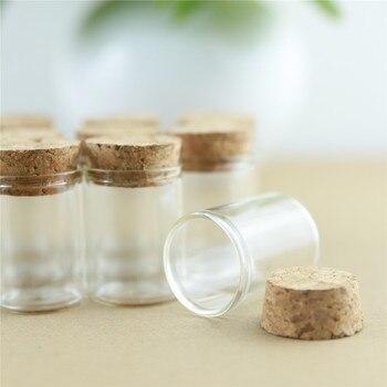 24 יחחבילה 15ml 30mm * 40mm מבחנת פקק פקק בקבוק זכוכית תבלינים בקבוקי מיכל צנצנות בקבוקוני DIY קרפט