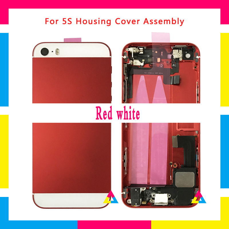 High Quality Back Middle Frame Chassis Full Housing Assembly Battery Cover Door Rear With Flex Cable For Iphone 5 5G 5S SE