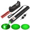 Охотничий зеленый лазерный указатель 10000 м 532нм с перезаряжаемой батареей 18650 лазерный прицел мощный регулируемый фокус лазерный светильни...