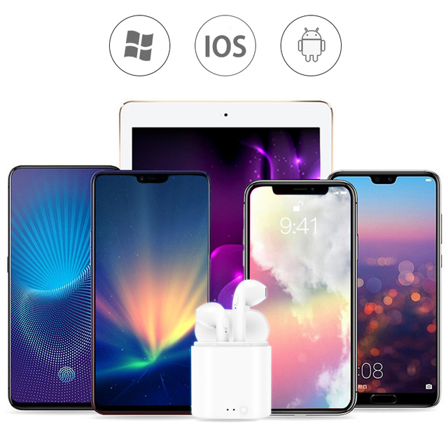 i7s TWS Wireless Earpiece Bluetooth 5.0 Earphones Headphones  Earbuds Headset Earphone For smart Phone Xiaomi Samsung Huawei 2
