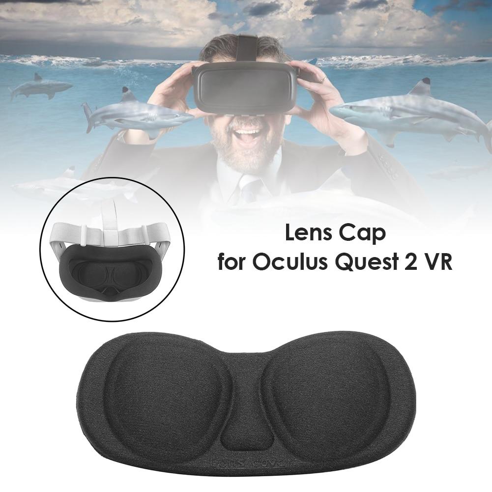 Lente vr capa protetora à prova de poeira caso para oculus rift s acessórios de fone de ouvido de jogos óculos macios lente anti-risco capa almofada