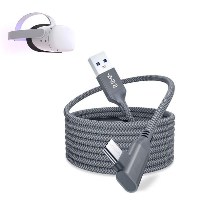 5M קו נתונים עבור צוהר Quest 2 קישור אוזניות USB 3.0 סוג C נתונים טעינת כבל העברת סוג C כדי USB A כבל VR אבזרים