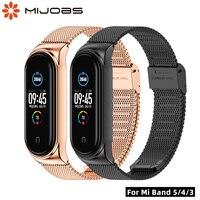Per Mi Band 6 5 cinturino bracciale in metallo per Xiaomi Band 5 braccialetti per Mi band 3 cinturino da polso per Miband 4 Correa per Mi 5 Pulsera