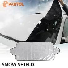 150x70 범용 자동차 앞 유리 커버 자동 차양 눈 얼음 보호 커버 겨울 여름 190x120cm 앞 유리 쉴드