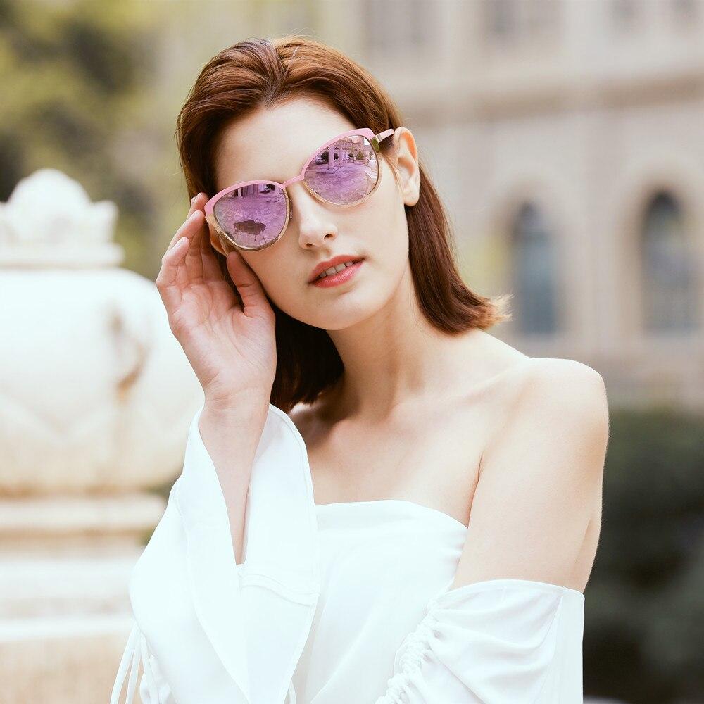 FENCHI Sunglasses Women Polarized Cat Eye Sunglasses Mirror Metal Vintage Brand Designer sun glasses lunette de soleil homme