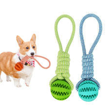 New 1Pc Pet Braid Rope Ball toy Dog Toys Chew Teeth Clean Outdoor Training Fun Playing Durable Rope Ball Toy For Dog Cat Pet Toy(China)