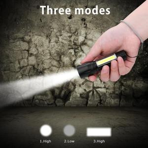 Image 5 - 3 Modes Flashlight by AA Battery 3800 Lumen Portable Lantern XPE COB Linternas Camping Lamp Hunting Working Torch Flashlamp