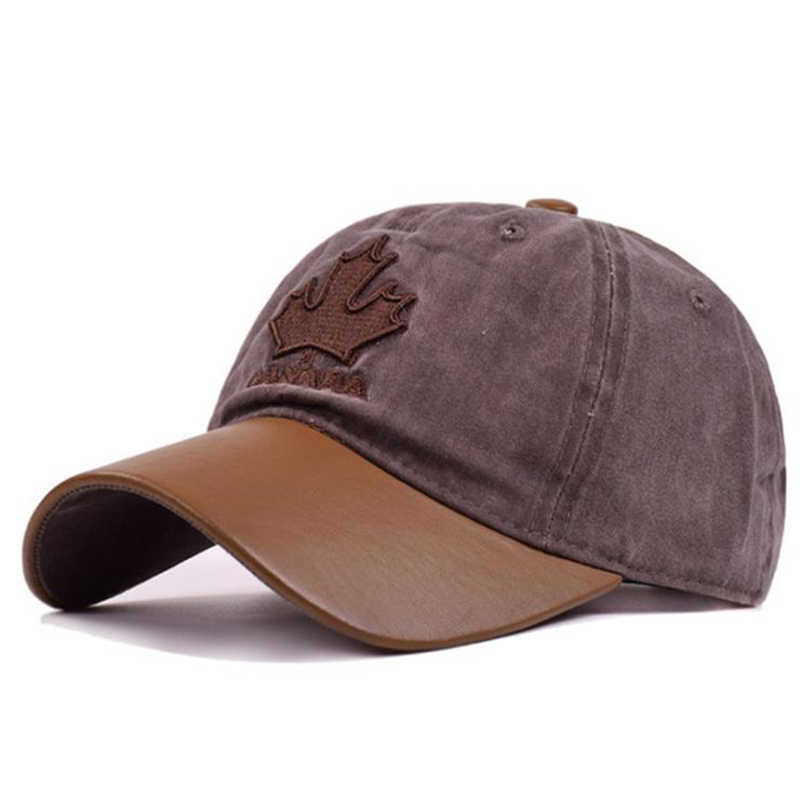LA נשים עור כובע בייסבול מרזבים קנדה כותנה רקום אותיות כובע גברים של Leaveland כובע מקור ברווז כובע