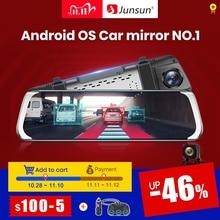 """(11.11 code:1111VENTE3)Junsun A930 ADAS 4G 10 """"IPS voiture DVR caméra miroir tableau de bord caméra enregistreur vidéo Full HD 1920x1080 rétroviseur Android OS WiFi GPS"""