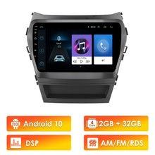 Autoradio Android 10, RDS, DSP, Navigation GPS, lecteur multimédia vidéo, écran 2,5d 9 pouces, pour voiture HYUNDAI IX45, Santa Fe (2013 – 2017)