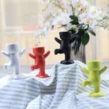Керамический цветочный горшок в форме человека, креативная ваза для цветов, керамический горшок для растений, украшение для дома
