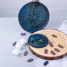 Molde de resina epoxi para manualidades, tablero de adivinación de runas Fu, molde de silicona, disco Manual, para Resina epoxi