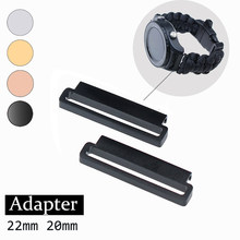 Adaptateur de bracelet de montre intelligente, 2 pièces, 22mm 20mm, pièces de connexion pour Huawei Samsung
