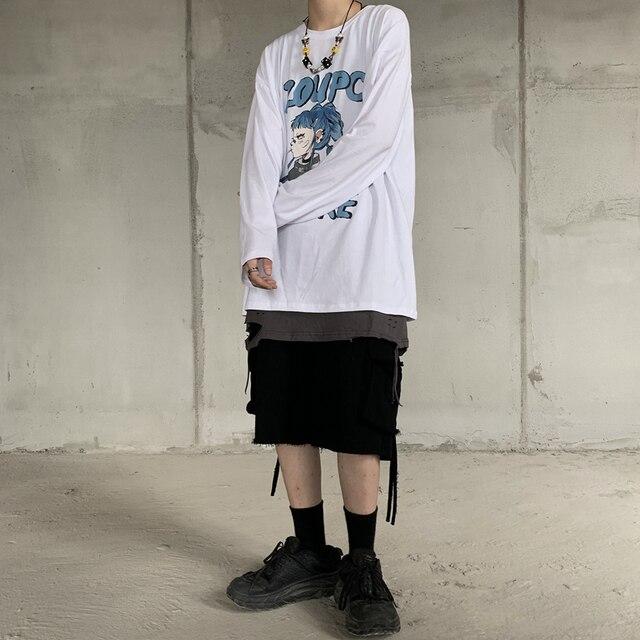 Купить футболка с длинным рукавом и японским аниме принтом харадзюку картинки цена
