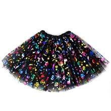 Юбка-пачка для маленьких девочек на Хэллоуин, детская одежда с принтом тыквы для маленьких девочек, короткая плиссированная мини-юбка для м...