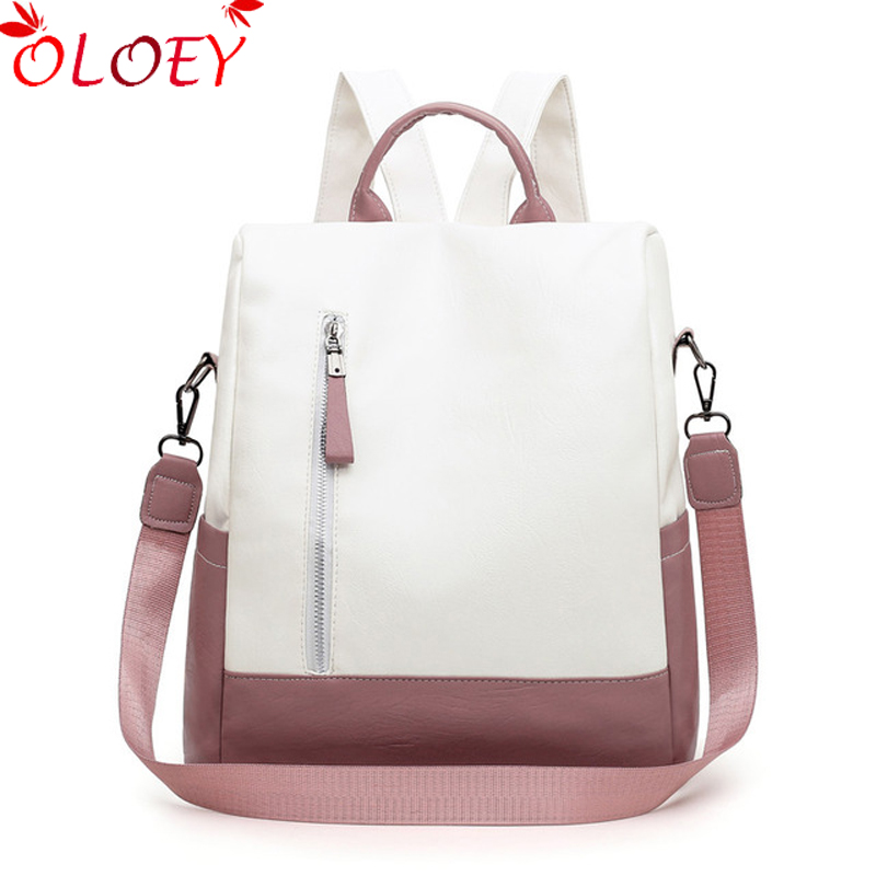 Women Backpacks 2020 New Soft Leather Bag For College Simple Casual Daypacks Mochila Female Anti Theft School Backpacks Hot Sale