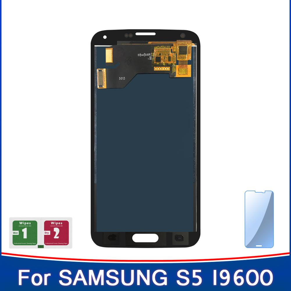 100% New Display For High TFT Samsung S5 lcd SM-G900 SM-G900F G900 I9600 LCD Touch Screen Sensor Panel Replacement(China)