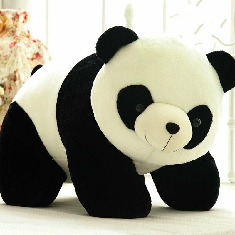 Giant Panda Plush Toy Black White Big Teddy Bear Soft Stuffed Animals Toy Doll Cotton Gift Birthday Reward Padding