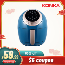 KONKA 3.5L Air Fryer Intelligent Automatic Electric Household Multi-Functional Oven No Smoke Oil free fryer