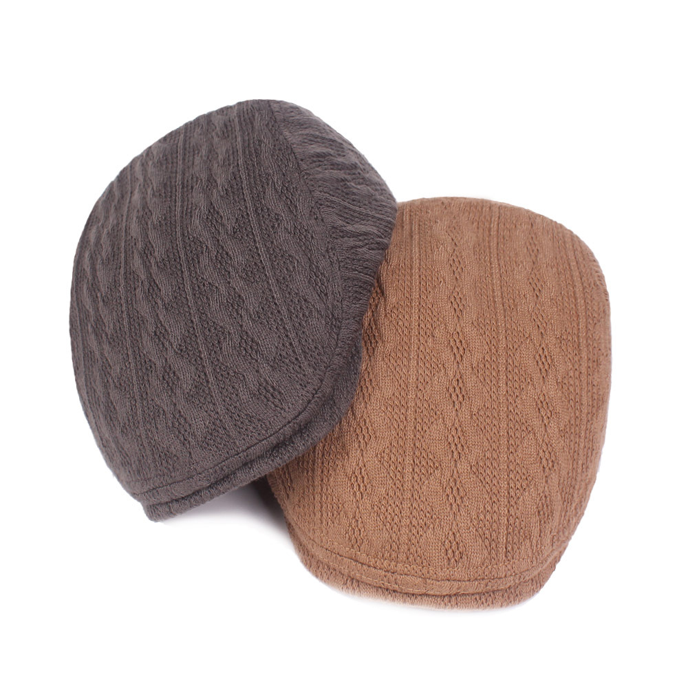 Fishing Caps Yarn Brim Hat Men and Women Autumn and Winter Beret Thick Warm Hat Outdoor Fishing Caps Men Knitted Wool Cap|Fishing Caps| |  - title=