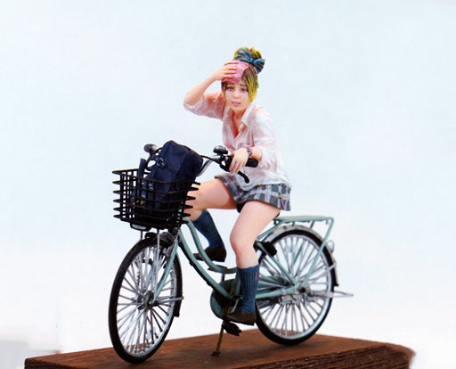 1/20 Modern Girl (WITHOUT Bicycle And Base )   Resin Figure Model Kits Miniature Gk Unassembly Unpainted