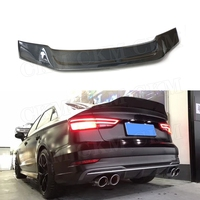 Carbon Fiber Car Rear Trunk Spoiler Wings for Audi A5 S5 RS5 Coupe 2 Door 2017 2019 car styling