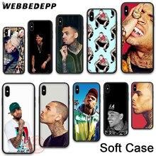 WEBBEDEPP 22N Chris Brown Breezy Soft Phone Case for iPhone X XR XS 11Pro Max 7 8 6S Plus 5S SE 8Plus 7Plus 11 Pro Max Cases