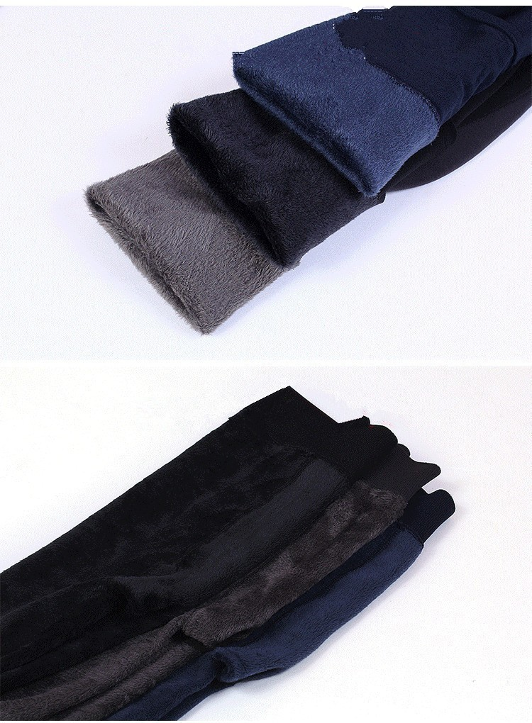 H931ffa70185e422082e1c770a6fbc272A CHRLEISURE Warm Women's Plus Velvet Winter Leggings Ankle-Length Keep Warm Solid Pants High Waist Large Size Women Leggings