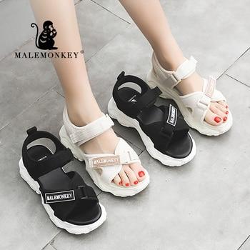 MALE MONKEY 023145 Women Sandals Wedges Shoes High Heels Summer Shoes 2020 Plaform Fashion Flip Flop Sport Female Sandals