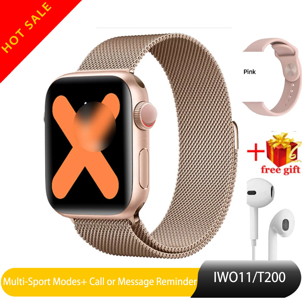 T200 Bluetooth Smart Watch Series 5 IWO 11 Heart Rate Monitor Smartwatch 40mm Case For Android Apple Phone Relogio Inteligente