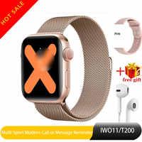 T200 bluetooth relógio inteligente série 5 iwo 11 monitor de freqüência cardíaca smartwatch 40mm caso para android apple telefone relogio inteligente
