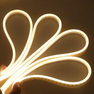 Image 4 - 12V LED Bande de Lumière Au Néon de Corde Dimmable 2835 120led s/m 6mm Néon Flexible Imperméable Enseignes Au Néon 1m 2m 3m 4m 5m 7 Couleurs