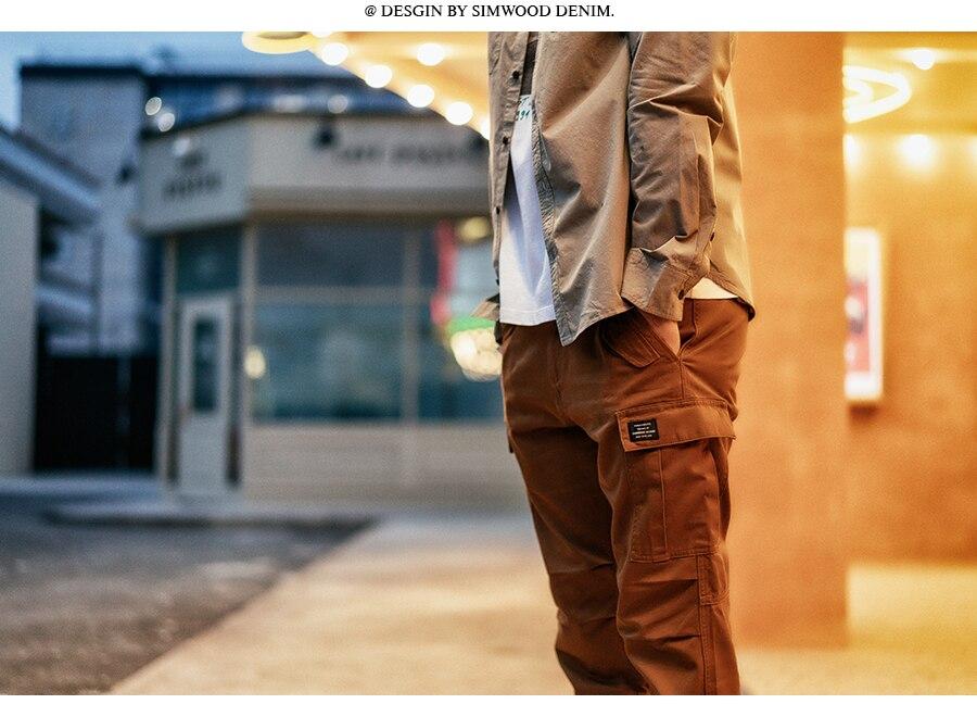 H9320606b95c949e4a1dcc652d32f99e16 SIMWOOD New 2019 Casual Pants Men Fashion track Cargo Pants Ankle-Length military autumn Trousers Men pantalon hombre 180614