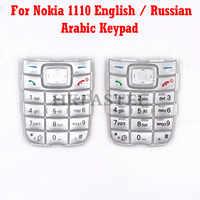 Para Nokia 1110 New Mobile Phone Inglês/Russo/Árabe Teclado Para 1110 Substituição habitação tampa do Teclado