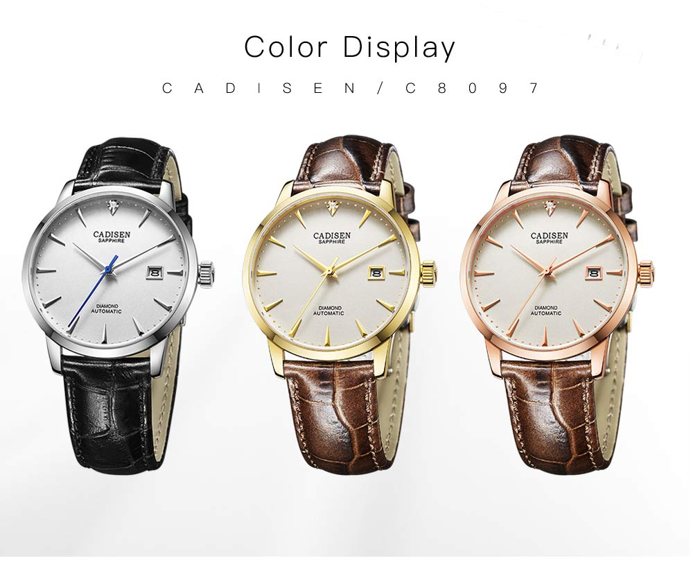 H9320896d4ece46aaa365e68bde41dd94e CADISEN Men Watches Automatic Mechanical Wrist Watch MIYOTA 9015 Top Brand Luxury Real Diamond Watch Curved Sapphire Glass Clock