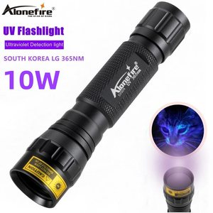 Image 1 - AloneFire SV004 LG אולטרה סגול אור 10W גבוהה כוח 365nm/395nm uv פנס UV Black Light חיות מחמד כתמים גלאי עקרב