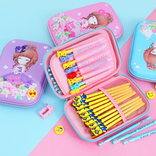 cute pencil case kawaii pink school for girls large capacity pen box kalem kutusu pennenzak plumier scolaire fille estojo escola