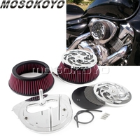For Suzuki Boulevard M109RZ M109R2 M109R Boss Motorcycle High Flow Air Filter Intake Aluminum Mesh Cleaner Cover Kit 2006 2019