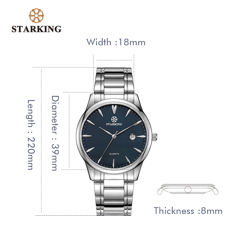 Image 4 - Starking Brand Mens Quartz Watch Imported Japan Movement Watch 316l Stainless Steel Auto Date Fashion Casual Men Watch BM0972watch brandwatch stainlesswatch stainless steel -