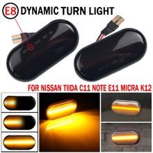2Pcs Dynamic LED Side Marker Light Turn Signal Light Side Repeater Panel Lamp For Nissan Qashqai J10 350z Z33 Navara D40 Micra C