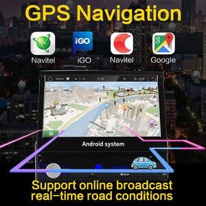 "Image 5 - อัตโนมัติวิทยุติดรถยนต์1 Din Android 7 ""GPS นำทาง Bluetooth กล้อง AM RDS 1080P USB หน้าจออัตโนมัติเครื่องเล่นมัลติมีเดีย"