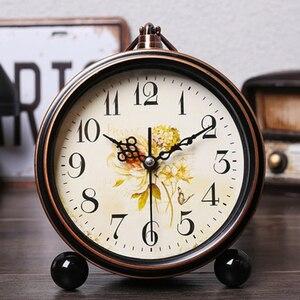 Desk Electronic Alarm Clock Mechanical Europe Creative Vintage Clocks Alarm Home Decor Silent Saat Erkekler Table Clock 50A0079